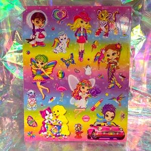 MINT Lisa Frank Sticker Sheet full early 2000s NEW